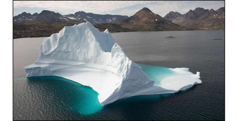 The iceberg and the fjord.
