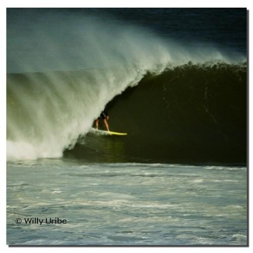 Wayne Lynch. 1989. Mundaka. Basque Country. WU PHOTO © Willy Uribe
