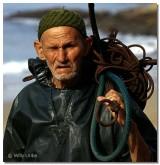 El viejo y el mar en Tarhazoute, Marruecos.