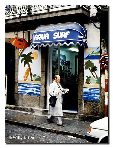 Aqua Surf. Ferrol, Galicia, finales de los ochenta. WU PHOTO © Willy Uribe