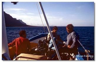 Entre Lanzarote y La Graciosa, 1983.