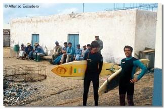 Javi Amezaga y Juanma Gandarias, La Graciosa, 1983