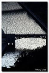 Ría y puente de Deusto. Bilbao.