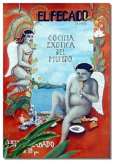 Cartel en Bocas del Toro, Panamá.