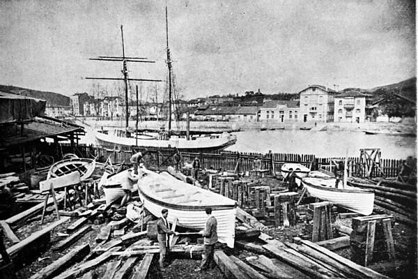 Astillero de Mendiguren. Olaveaga. Bilbao. 1917.