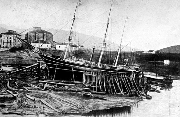 Astillero de Ripa. Bilbao. s XIX.