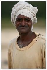 Pescador en Tamil Nadu. India.