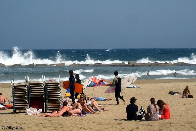 Playa de La Barceloneta. Barcelona