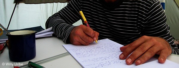 Sobre la escritura. Willy Uribe photo