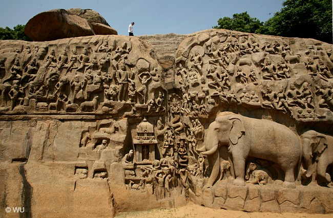 Great Penance Panel. Mamallapuram. India. Foto Willy Uribe.