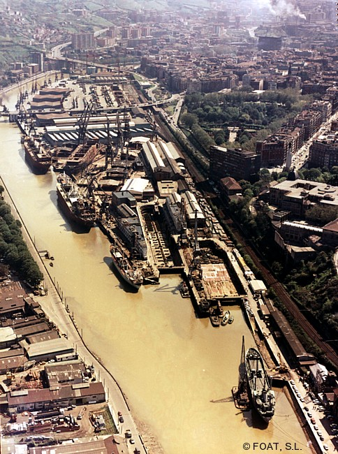 Astillero Euskalduna. Bilbao. Años 70. Archivo FOAT