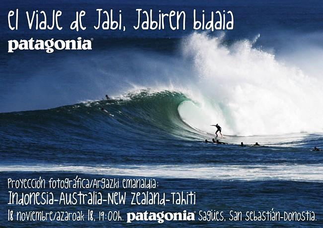 El viaje de Jabi, Jabiren bidaia. Proyección fotográfica. Argazkiak emanaldia.