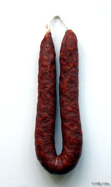 Bodegón. Chorizo y cuerda. WU PHOTO © Willy Uribe