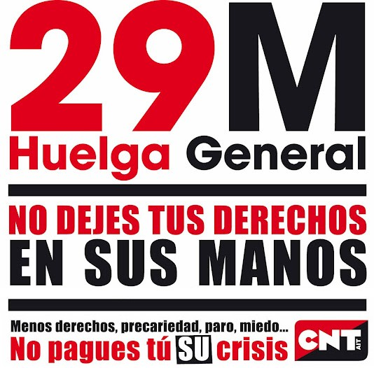 Huelga General 29 M. 2012