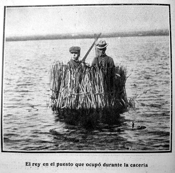 Alfonso XIII y El País. Cazando Patos.