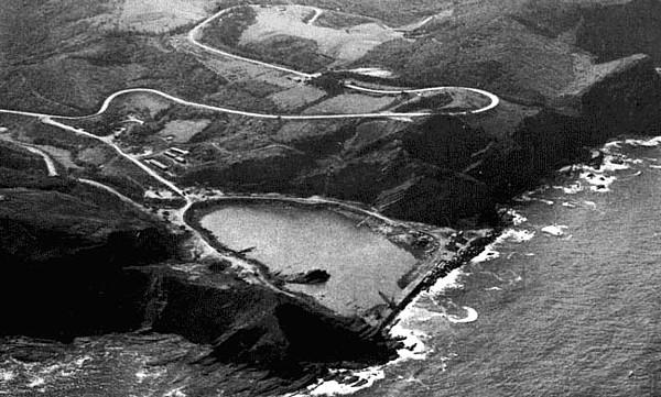 Central nuclear de Lemoiz en construcción.