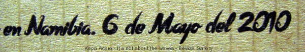 It´s not about the waves. Kepa Acero. Belaza Gallery. Bilbao. Tengo Sitio Libre. Blog de Willy Uribe.
