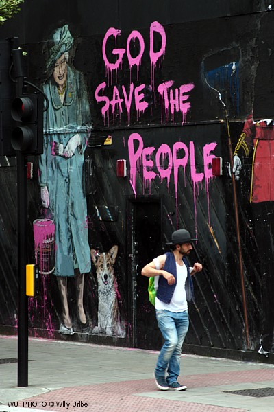 God save the people. London 2012. WU PHOTO © Willy Uribe