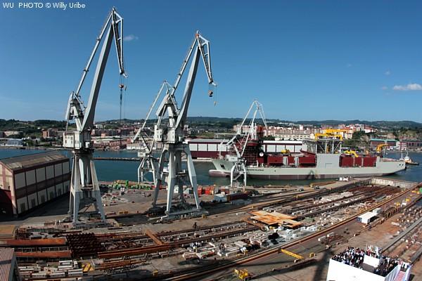 Joseph Plateau. Stone dumping & Mining vessel. Botadura en la Naval de Sestao. 2012. Tengo Sitio Libre. Blog de Willy Uribe.