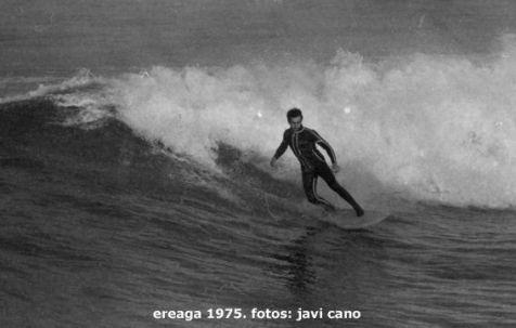 Surf en Ereaga, Getxo, en 1975. Fotos de Javi Cano. Tengo Sitio Libre. Blog de Willy Uribe.