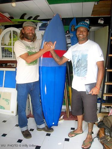 """Oficina de Hechos. Quad 6' 2"""" de Vanderlei Afonso. Tablas de surf. Tengo Sitio Libre. Blog de Willy Uribe."""