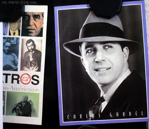Mario Vargas Llosa, Gabriel García Márquez, Pablo Neruda, Julio Cortázar. Jorge Luis Borges,  Carlos Gardel, Carlos Salem. Tengo Sitio Libre. Blog de Willy Uribe.