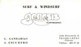 Tarjeta de presentación de Génesis Surfboards. Tengo Sitio Libre. Blog de Willy Uribe.