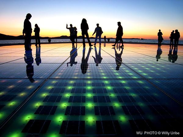 Greeting to the sun. Zadar. Croatia. WU PHOTO © Willy Uribe
