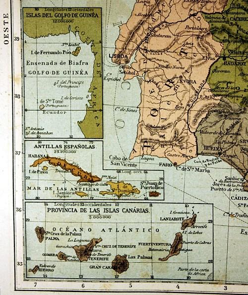 Mapa de las colonias españolas siglo XIX. Tengo Sitio Libre. Blog de Willy Uribe.
