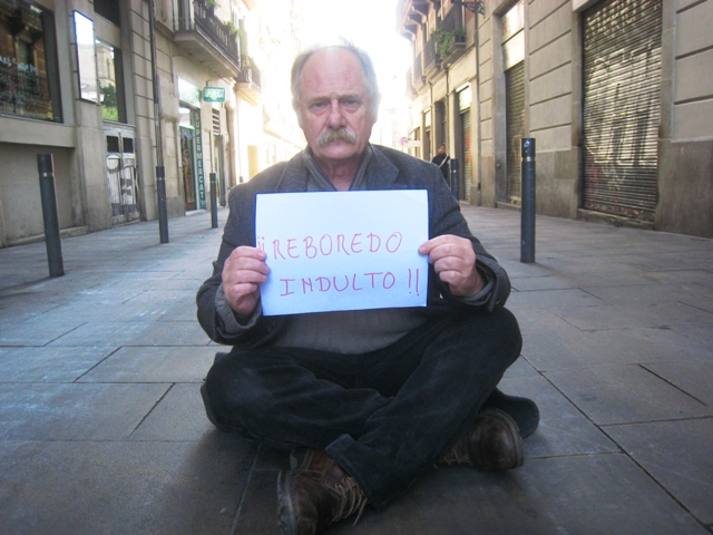 Sentada en las calles: Indulto para David Reboredo