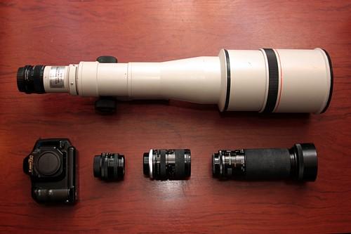 Teleobjetivo Canon FD 800mm 1:5.6 L. Camara T 90