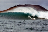 Big waves surfing Gary Elkerton. Lanzarote. Canary Islands. Spain.