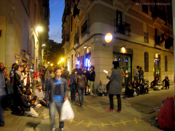 Jordi Corominas Los lotófagos. Poesía. Performace poética. Barcelona. El Raval.