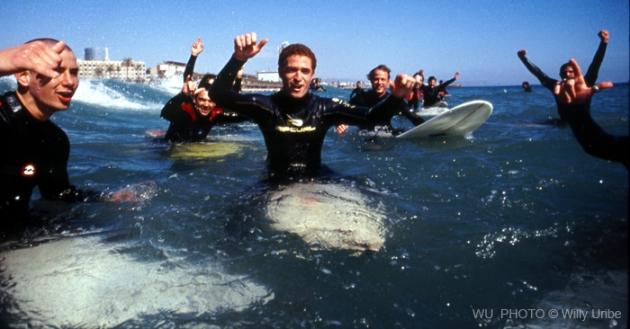 Surfistas en La Barceloneta. Comienzos siglo XXI. Historia del surf en España