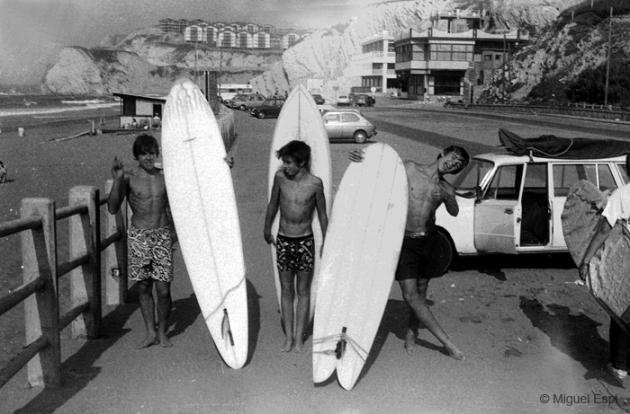 Sopelana. Euskadi. Década de los 70. Historia del surf en España