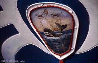 Escudo, Bermeo, pesquero, ballena, Euskadi © WU PHOTO archivo fotográfico reportajes Willy Uribe