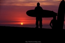 Surfer sunset. Uribe Kosta. Basque Country. WU PHOTO © Willy Uribe