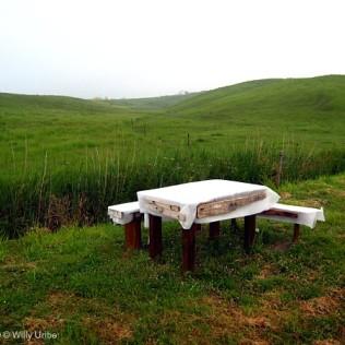 La mesa en el prado. San Vicente de la Barquera. Cantabria. Spain. WU PHOTO © Willy Uribe Archivo fotográfico Reportajes