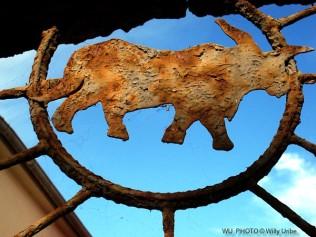 Metal Rhinoceros. Nin. Croatia. WU PHOTO © Willy Uribe Archivo fotográfico Reportajes