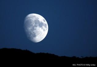 The Moon. La Luna. Illargia. WU PHOTO © Willy Uribe Archivo fotográfico Reportajes
