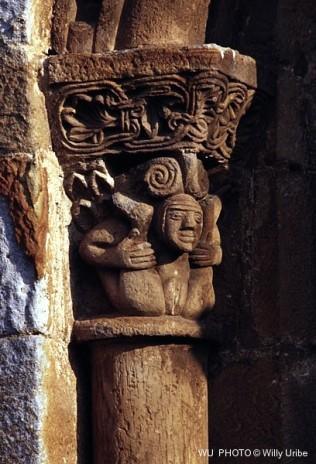 Vagina románica. San Pedro de Cervatos. Cantabria. Spain. WU PHOTO © Willy Uribe Archivo Fotográfico Reportajes