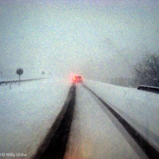 Nevada. Autopista. Altube. Basque Country. WU PHOTO © Willy Uribe Archivo fotográfico Reportajes