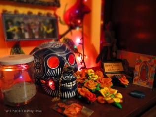 Culto a la Santa Muerte WU PHOTO © Willy Uribe Archivo fotográfico Reportajes