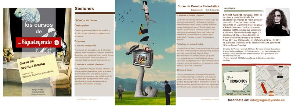 Curso de Crónica Periodística en Sigueleyendo. Por Cristina Fallarás.