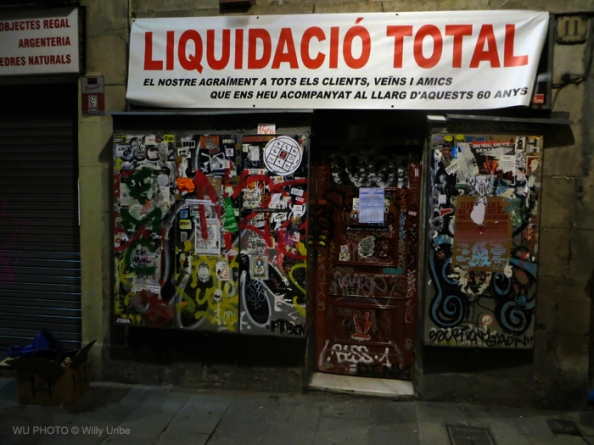 Barcelona. Liquidación total. Tengo Sitio Libre. Blog de Willy Uribe