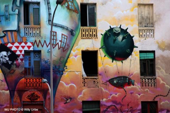 Casa okupa de La Carbonera. Barcelona. WU PHOTO © Willy Uribe