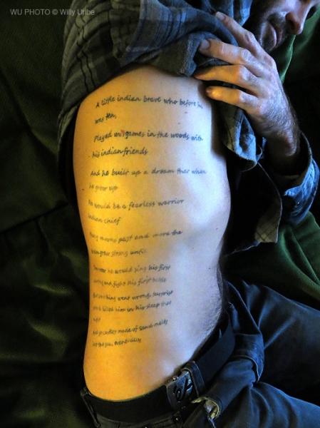 Jimmy Hendrix. Castles made of sand. Brett White tattoo. WU PHOTO © Willy Uribe