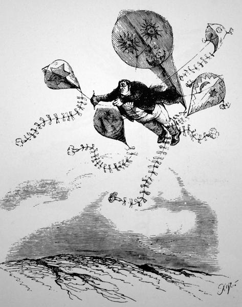 J.J. Grandville. Locomotions aériennes. Tengo Sitio libre. Blog de Willy Uribe.